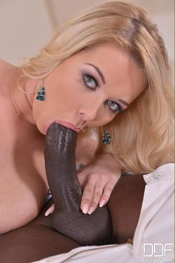 Mouth full of hard black meat