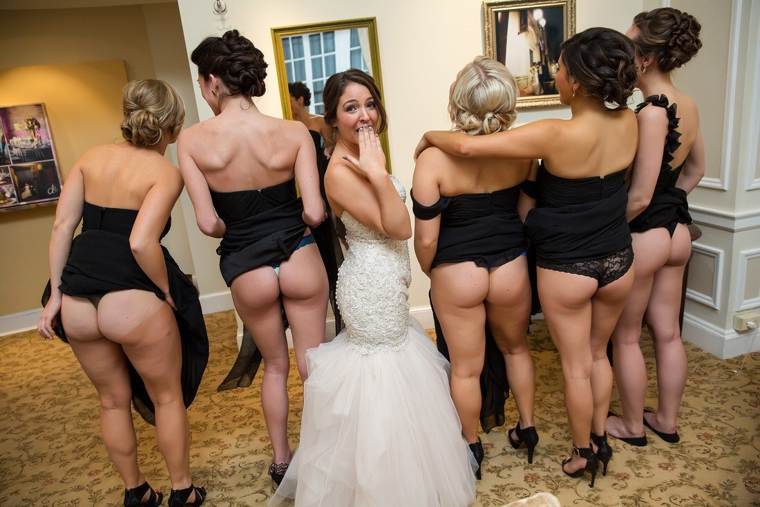 Off butts show bridesmaids