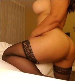 Black stockings make she feel sexy