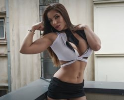Hot Girl with Muscles