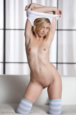 Abigaile Johnson takes off her clothes