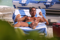 Turkish Eda Taspinar sunbathing topless paparazzi pics