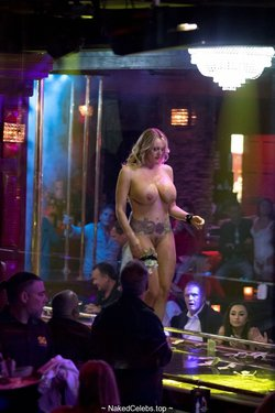 Busty Stormy Daniels nude in a Florida Strip Club