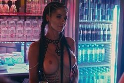 Lale Lecter as topless barkeeper in Night Out