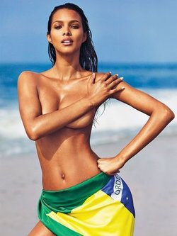 Lais Ribeiro sexy, topless & naked for GQ Mexico - August 2016