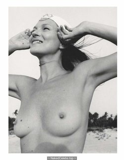 Kate Moss sexy and topless Vogue Magazine