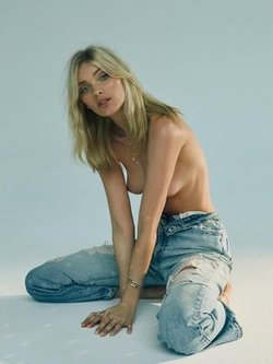 Elsa Hosk sexy and topless for Logan Hollowell 2019