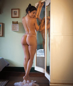 Sabrina Petrarca nude with tanlined booty
