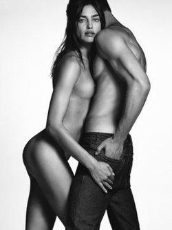 Irina Shayk sexy, topless and nude for Givenchy Jeans 2016