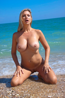 hot blonde at the beach 7