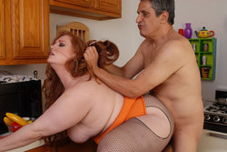 red head bbw babe getting fucked hard