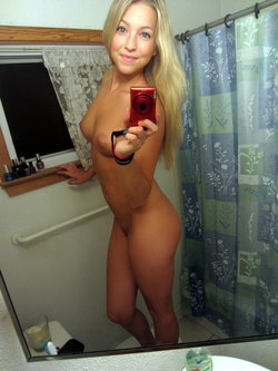 Selfie of amateur chick