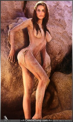 Nina Moric see through, topless and nude in For Men 2004 Calendar