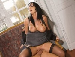 brunette with huge tits riding dick