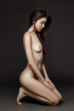 Pretty nude submissive model