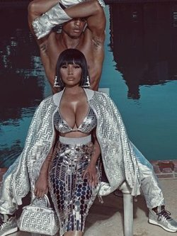 Nicki Minaj sexy for Elle magazine, US - October 2019