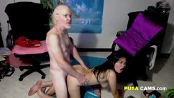 Grandpa I Love Your Soft Dick and Your Balls on my Pussy